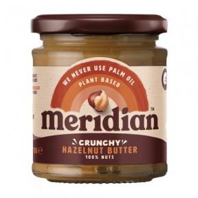 Manteiga de avelã crocante Meridian 170g