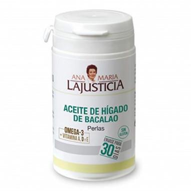 Óleo de fígado de bacalhau Ana María Lajusticia 90 pérolas