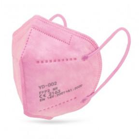 Mascarilla Rosa FFP2 norma EN149:2001 filtrado respiratorio marcado CE