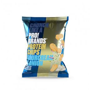 Chips de Protéines Saveur de Crème Sure et d'Oignon Pro!Brands 50g