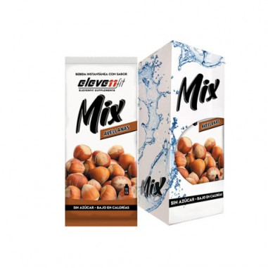 Pack of 12 Envelopes ElevenFit Hazelnut Flavor Mix Drinks 9g