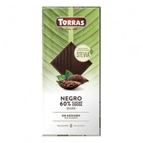 Torras Dark Chocolate 60% Cacao with Stevia 100g