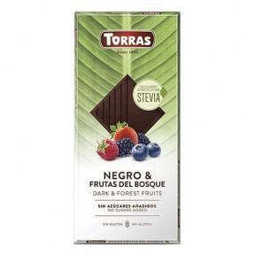 Chocolate Negro con Frutas del Bosque y Stevia Torras 125g