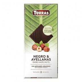 Chocolat Noir aux Noisettes et Stevia Torras 125g
