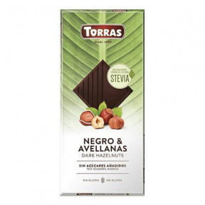 Chocolate Amargo com Avelãs e Stevia Torras 125g