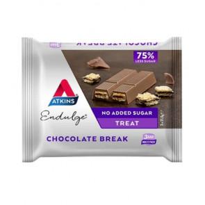Barrita Low Carb Chocolate Break Endulge de Atkins Multi Pack 3 x 21,5g