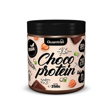 Pâte à tartiner au Chocolat Choco Vegan Protein Quamtrax 250 g