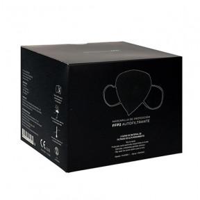 Caixa com 25 Máscaras FFP2 preta padrão EN149: 2001 filtro respiratório com marcação CE
