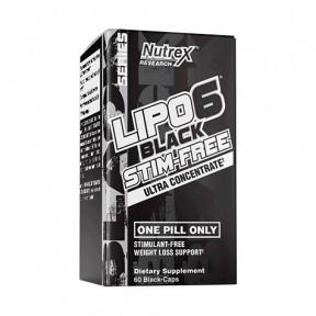 Lipo 6 Black Stim-Free Nutrex Research 60 cáps.