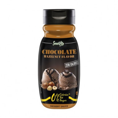 Sirope de Chocolate y Avellana 0% Servivita 320 ml