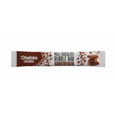 Barrita de Chocolate con Leche con Burbujas Sin Azúcar :Diablo 30g