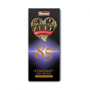 Chocolat Noir Fondant 85% Sans Sucre Torras 100g