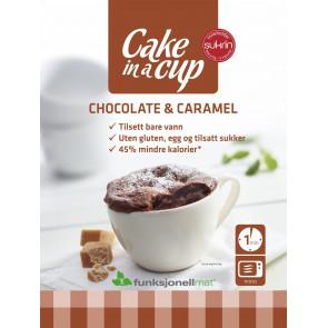 Bolo na Xícara Chocolate & Caramelo Sukrin 65g