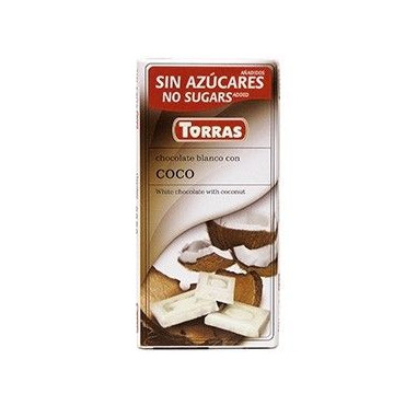 White Chocolate with Coco Sugar Free Torras 75g