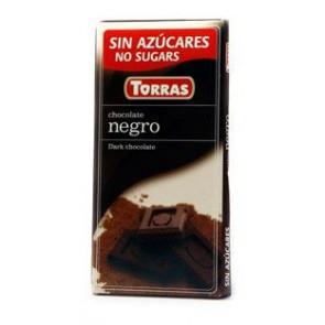 Chocolate Preto Sem Açúcar Torras 75 g