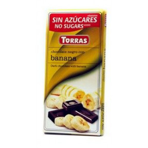 Dark Chocolate with Banana Sugar Free Torras 75 g