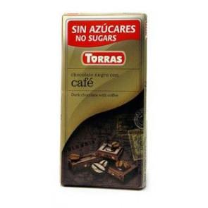 Chocolate Preto com Café Sem Açúcar Torras 75 g
