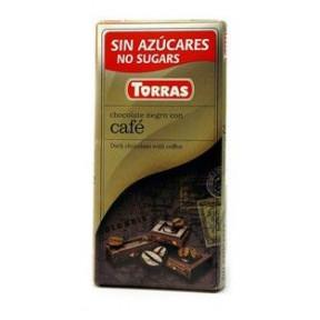 Dark Chocolate with Coffee Sugar Free Torras 75 g