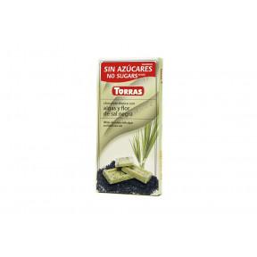 Chocolate Blanco con Algas y Flor de Sal Negra Torras 75 g