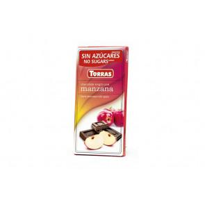 Chocolate Preto com Maçã Sem Açúcar 75 g Torras