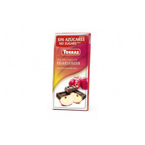 Black Chocolate with Apple Sugar Free 75 g Torras
