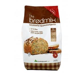 Bread Mix Sunflower and Pumpkin Seeds Sukrin 1 kg (Brodmix)
