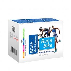 Complexo de recuperação BCAA + Multivitaminas Run & Bike 10 saquetas 50 mg