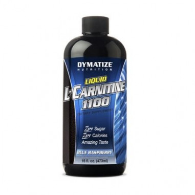 Liquid L-Carnitine 1100 Dymatize Blue Raspberry Flavor, 473 ml