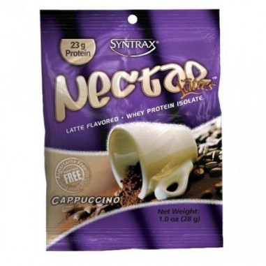 Syntrax Nectar Grab N'Go Whey Protein Isolate Sabor Capuccino 27 g