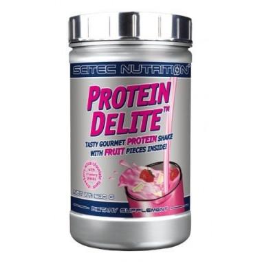 Protein Delite shake de proteína de Morango e Chocolate Branco com tropeços Scitec Nutrition