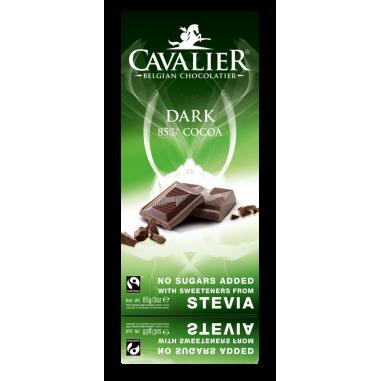 Cavalier Belgium Dark Chocolate with stevia 85 g
