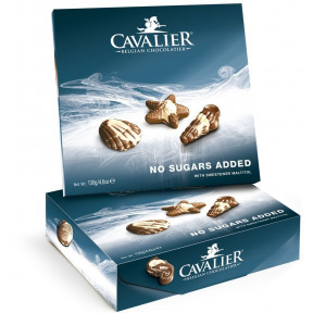 Assortiment Océan de Chocolats belges sans sucre Cavalier 130 g