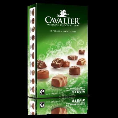 Assortiment de chocolats édulcorés avec stevia Cavalier 100g