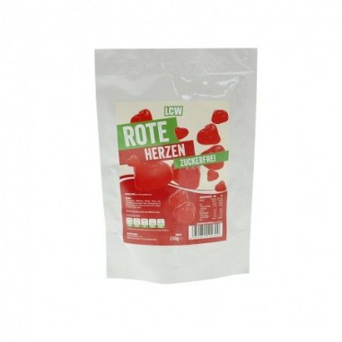 LCW Low Carb Gummy Red Hearts 250 g