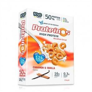 Cereales Proteicos Proteinos Sabor Vainilla y Canela 270g de Novo Nutrition