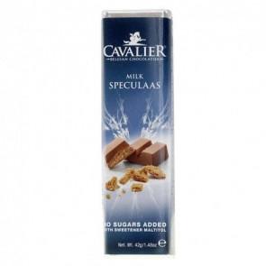 Barre de chocolat au lait et spéculoos Cavalier 42 g