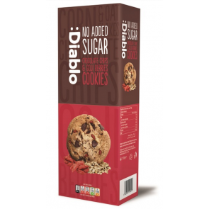 Cookies com gotas de chocolate e goji berries sem adição de açúcar :Diablo 135g