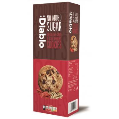 Cookies com gotas de chocolate e goji berries sem açúcar :Diablo 130g