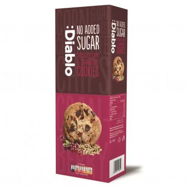 Cookies com gotas de chocolate e arándanos agrios sem açúcar :Diablo 135g