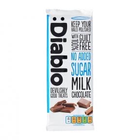 Tablette de chocolat au lait sans sucre ajouté :Diablo 85 g
