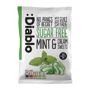 Mint & cream sweets sugar free :Diablo 75 g