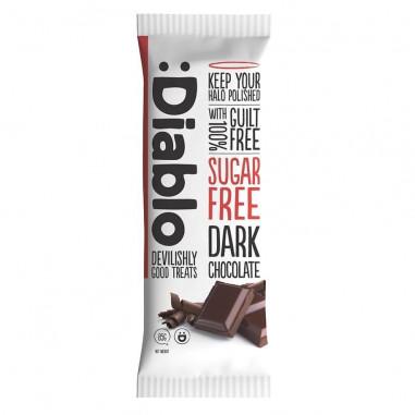 Barra de chocolate escura sem açúcar :Diablo 85 g