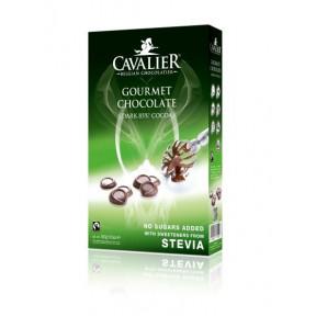 Pepitas de Chocolate Belga Negro 85% Gourmet con Estevia Cavalier 300 g