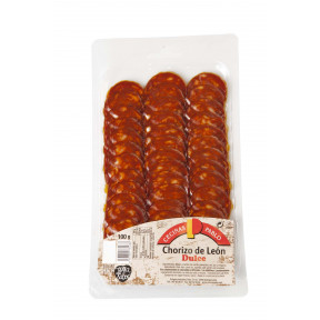 Chorizo de León Dulce loncheado 100g Cecinas Pablo