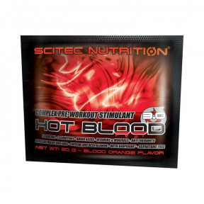 Creatinas Hot Blood 3.0 de Scitec Nutrition Naranja Sanguina monodosis 20 g