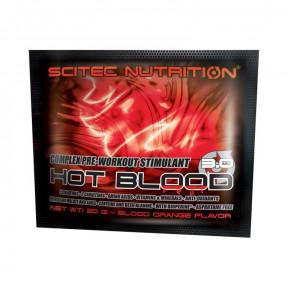 Hot Blood 3.0 pré-treino Estimulante Complexo Laranja de Sangue Scitec Nutrition monodose 20 g