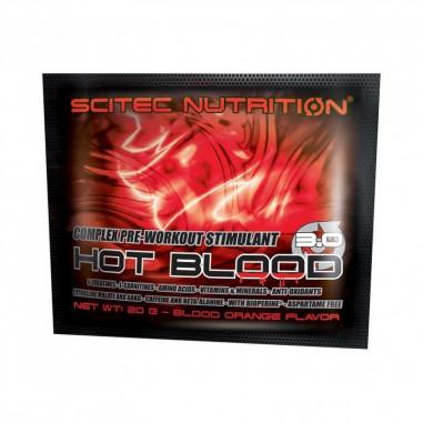 Hot Blood 3.0 Pre-Workout Stimulant Complex Blood Orange Scitec Nutrition 20 g single-dose