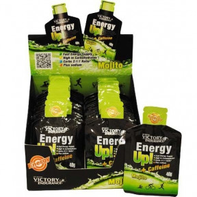 Caja 24 x 40g Energy Up! + Cafeína Gel Victory Endurance Mojito
