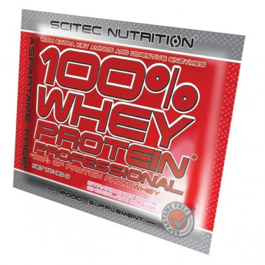 100% Whey Professional Scitec Nutrition Chocolat Noisettes unidose 30 g