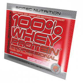 100% Whey Professional Scitec Nutrition Strawberry White Chocolate single-dose 30 g